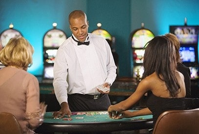 Dealer at a casino