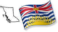 Flag and Map of British Columbia