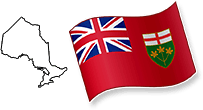 Flag and Map of Ontario