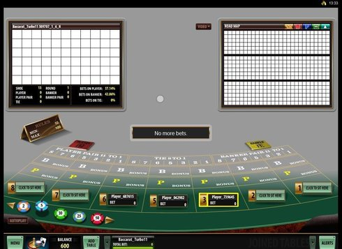 Live Baccarat Table