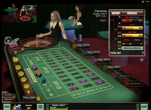 Live Roulette Table