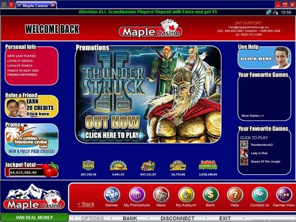 Maple Casino Screenshot
