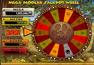 Mega Moolah Screen